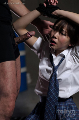 Submissive Japanese teen defiled and soiled