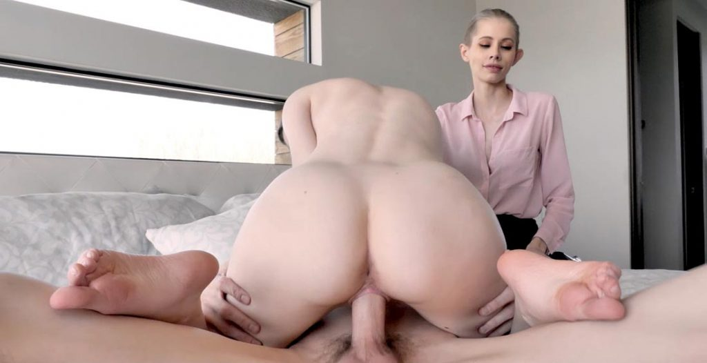 Stepbros fucks her doggystyle