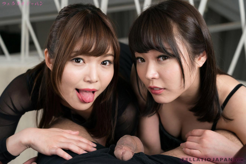 Japanese cuties Yui Kawagoe and Shino Aoi